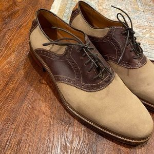 Johnston Murphy men's suede oxford style shoes.